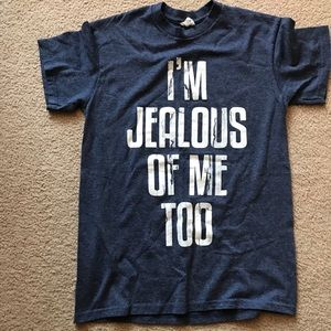 I'm Jealous of Me Too T-Shirt Size Small Blue SS